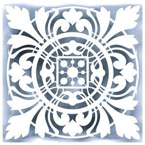 Stencil-para-Pintura-Simples-14X14cm-Azulejo-Brasil-STA-023---Litoarte