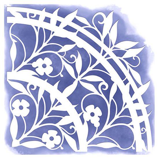 Stencil-para-Pintura-Simples-14X14cm-Cantoneira-Flores-STA-026---Litoarte