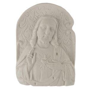 Aplique-Religioso-Oval-Sagrado-Coracao-de-Jesus-87x63cm---Resina