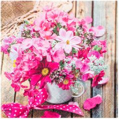 Guardanapo-Decoupage-Arranjo-de-Flores-Pink-2-unidades-GCD211545---Toke-e-Crie