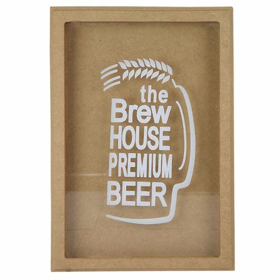 Quadro Cofre em MDF com Vidro 33,5x23x3,7cm The Brew House Premium Beer -  Palácio da Arte - PalacioDaArte 04de483057