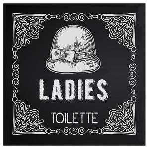 Placa-Decorativa-20X20cm-Ladies-Toilette-LPDXX-009---Litocart