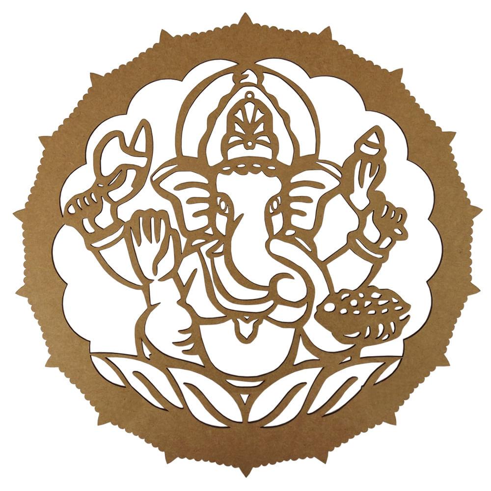 6226569ab6 Mandala em MDF 13x13cm Elefante Indiano - Palácio da Arte - PalacioDaArte