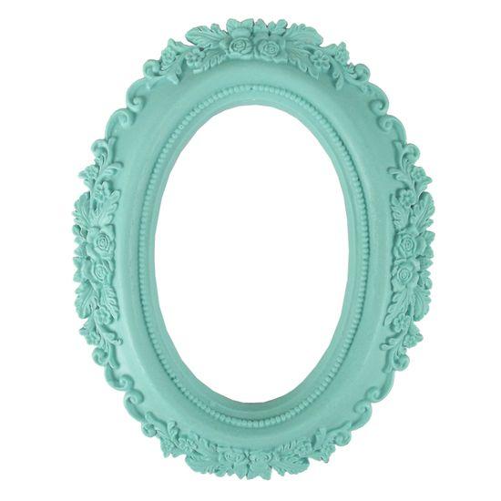 Moldura-Oval-Rosas-20x16cm-Azul-Tiffany---Resina