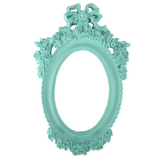 Moldura-Oval-Mini-Rosas-e-Laco-25x15cm-Azul-Tiffany---Resina