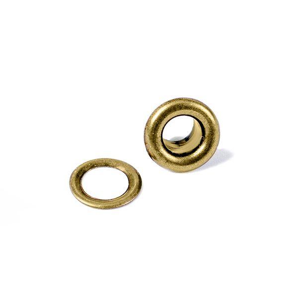 Kit-Ilhoses-com-Arruela-WER025-Bronze-com-60-Pecas-Eyelet-Washer
