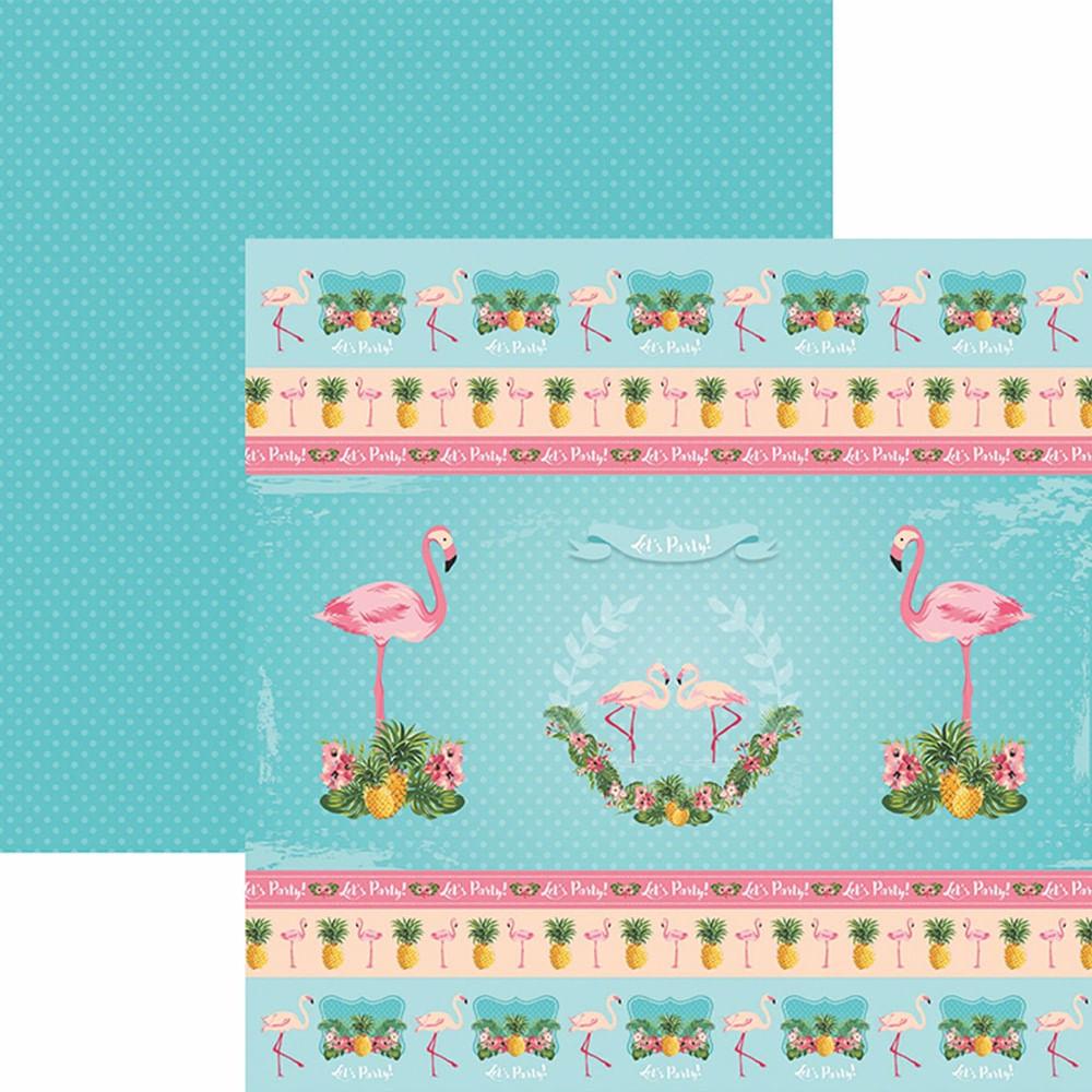 b92125aeca1d3 Papel ScrapFesta Toke e Crie SDF749 Dupla Face 30,5x30,5cm Flamingos Fitas  e Rótulos by Mariceli - PalacioDaArte