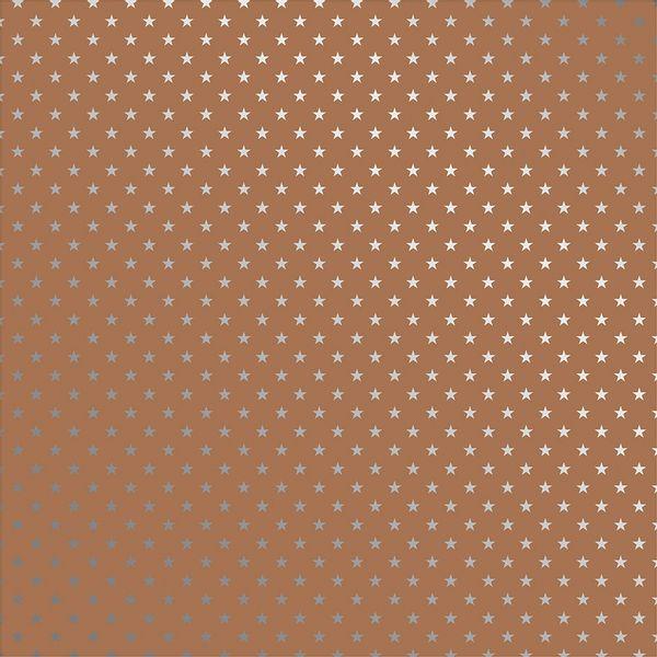 Papel-Scrapbook-Toke-e-Crie-SDF714-Simples-305x305cm-Metalizado-Estrelas-Prateado-Fundo-Kraft