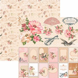 Papel-Scrapbook-Toke-e-Crie-SDF765-Dupla-Face-305x305cm-Floral-Classico-Tags-e-Recortes