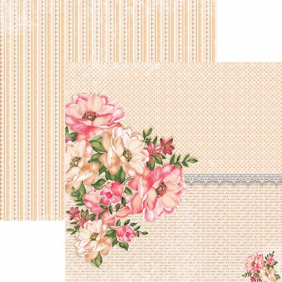 Papel-Scrapbook-Toke-e-Crie-SDF763-Dupla-Face-305x305cm-Floral-Classico-Flores-e-Rendas