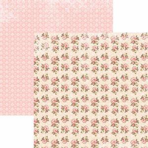 Papel-Scrapbook-Toke-e-Crie-SDF764-Dupla-Face-305x305cm-Floral-Classico-Arranjos