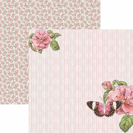 Papel-Scrapbook-Toke-e-Crie-SDF769-Dupla-Face-305x305cm-Borboletas-Vintage-Rosas