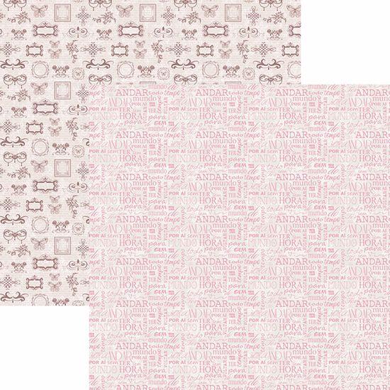 Papel-Scrapbook-Toke-e-Crie-SDF767-Dupla-Face-305x305cm-Borboletas-Vintage-Palavras