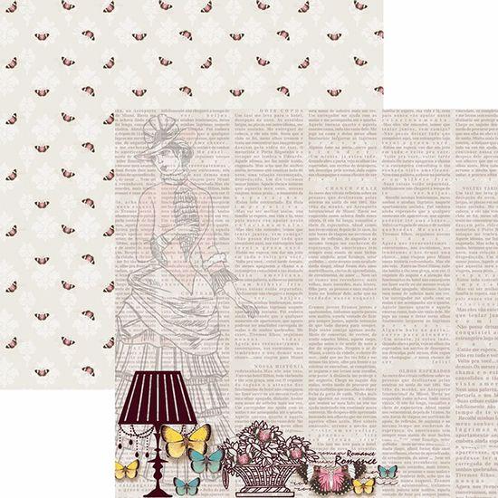 Papel-Scrapbook-Toke-e-Crie-SDF770-Dupla-Face-305x305cm-Borboletas-Vintage-Dama