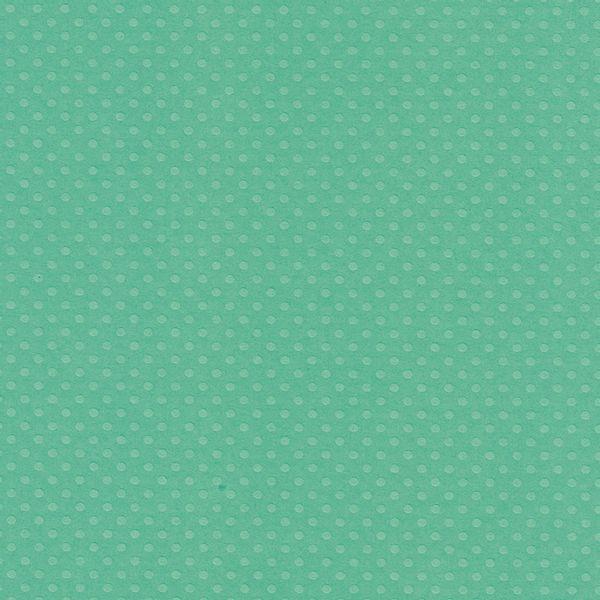 Papel-Scrapbook-Toke-e-Crie-PCAR492-Dupla-Face-305x305cm-Cardstock-Texturizado-Bolinhas-Verde-Gelo