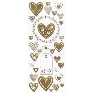 Adesivo-Foil-Metalizado-Toke-e-Crie-AD1835-Coracoes-Delicados-Dourado