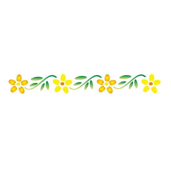 Stencil-OPA-124-4x30cm-para-Pintura-Flores