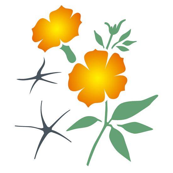 Estencil-OPA2276-Pintura-Simples-20X25-Flor-Petunia