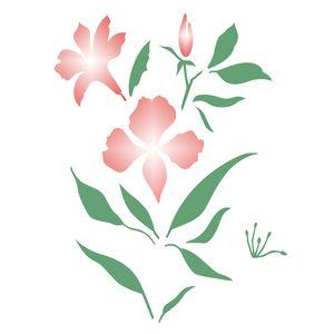Estencil-OPA2275-Pintura-Simples-20X25-Flor-Astromelia
