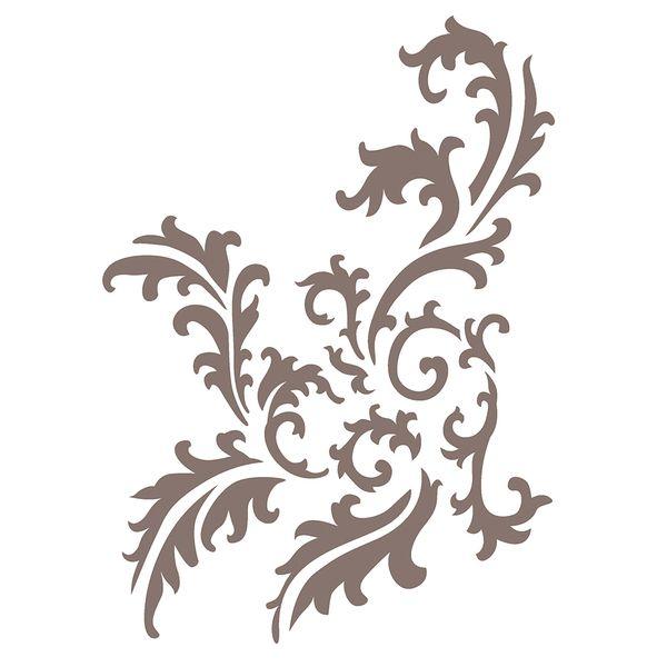 Estencil-OPA2259-Pintura-Simples-20X25-Arabesco-Folhas