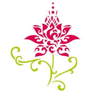 Estencil-OPA2245-Pintura-Simples-15x20-Flor-de-Lotus-Estilizado
