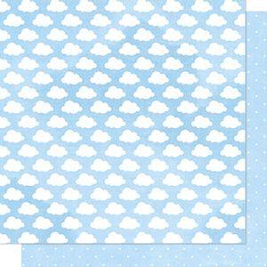 Papel-Scrapbook-Litoarte-SD-012-Dupla-Face-305x305cm-Nuvens-e-Poa