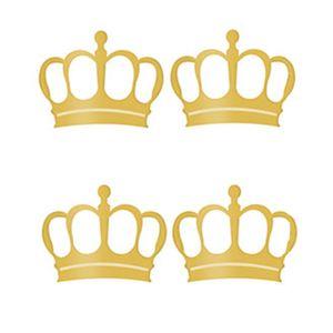 Aplique-Decoupage-Litoarte-APM3-146-em-Papel-e-MDF-3cm-Coroa-Dourada