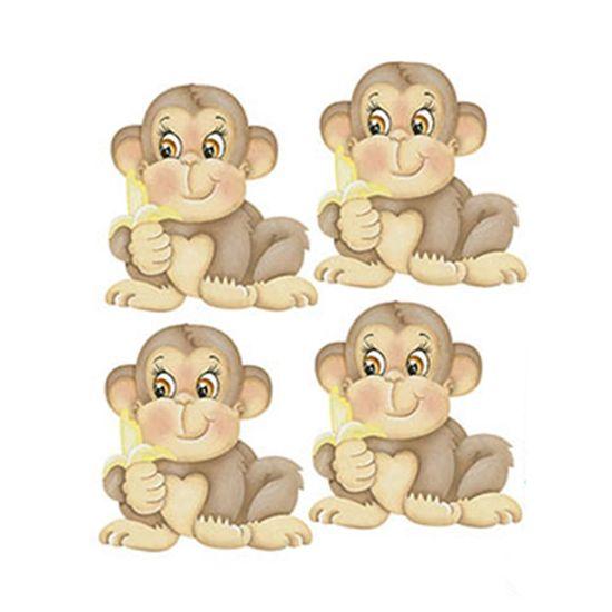Aplique-Decoupage-Litoarte-APM3-201-em-Papel-e-MDF-3cm-Macaco