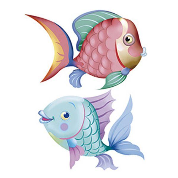 Aplique-Decoupage-Litoarte-APM4-253-em-Papel-e-MDF-4cm-Peixes