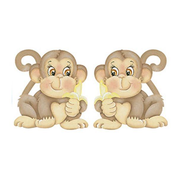 Aplique-Decoupage-Litoarte-APM4-259-em-Papel-e-MDF-4cm-Macacos