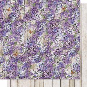 Papel-Scrapbook-Litoarte-SD-607-Dupla-Face-305X305cm-Lavanda-e-Madeira
