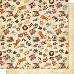Papel-Scrapbook-Litoarte-SD-611-Dupla-Face-305x305cm-Estampa-Retro