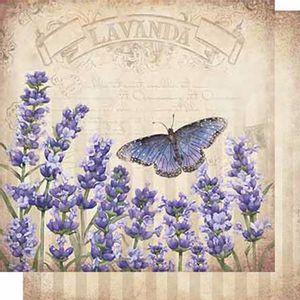 Papel-Scrapbook-Litoarte-SD-626-Dupla-Face-305X305cm-Lavanda-e-Borboletas