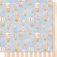 Papel-Scrapbook-Litoarte-SD-635-Dupla-Face-305X305cm-Balao-e-Listras-Rosa