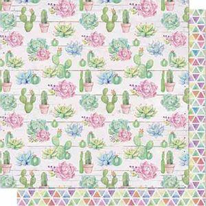 Papel-Scrapbook-Litoarte-SD-633-Dupla-Face-305X305cm-Suculentas-e-Cactos