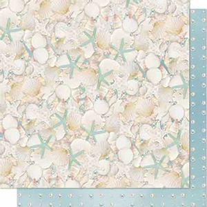 Papel-Scrapbook-Litoarte-SD-651-Dupla-Face-305X305cm-Conchas-e-Estrelas-do-Mar