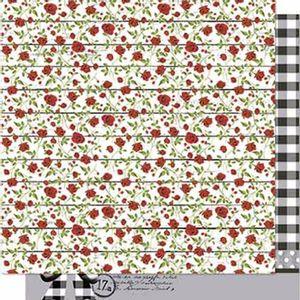 Papel-Scrapbook-Litoarte-SD-658-Dupla-Face-305X305cm-Rosas-Vermelhas