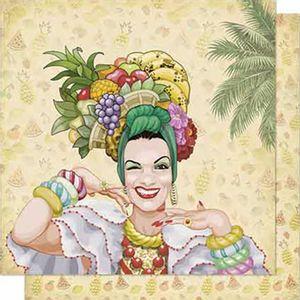 Papel-Scrapbook-Litoarte-SD-659-Dupla-Face-305X305cm-Carmem-Mirando-com-Flores