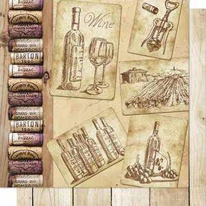 Papel-Scrapbook-Litoarte-SD-662-Dupla-Face-305X305cm-Rolhas-e-Imagens-de-Vinho