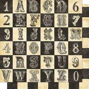 Papel-Scrapbook-Litoarte-SD-665-Dupla-Face-305X305cm-Alfabeto-e-Numeral