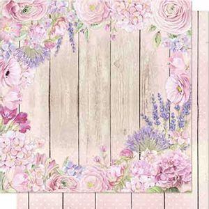 Papel-Scrapbook-Litoarte-SD-686-Dupla-Face-305X305cm-Flores-e-Madeira