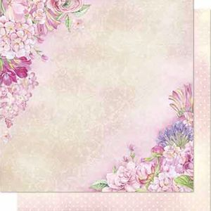 Papel-Scrapbook-Litoarte-SD-687-Dupla-Face-305X305cm-Flores-e-Poa