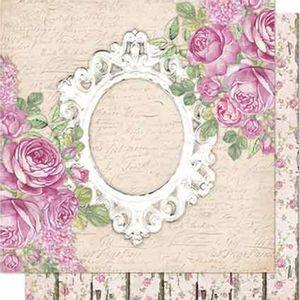 Papel-Scrapbook-Litoarte-SD-689-Dupla-Face-305X305cm-Rosas-e-Moldura