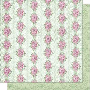 Papel-Scrapbook-Litoarte-SD-693-Dupla-Face-305X305cm-Rosas-e-Renda