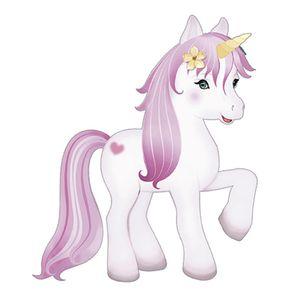 Aplique-Decoupage-Litoarte-APM8-804-em-Papel-e-MDF-8cm-Unicornio-Branco-com-Crina-Rosa