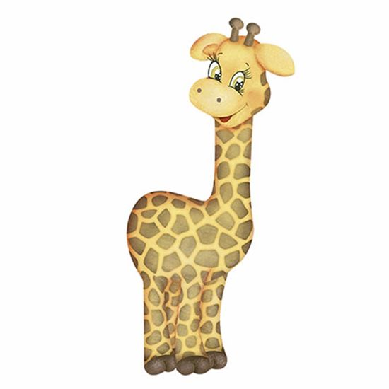 Aplique-Decoupage-Litoarte-APM8-813-em-Papel-e-MDF-8cm-Girafa