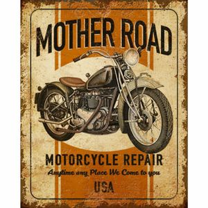 Placa-Decorativa-Litoarte-DHPM-212-24x19cm-Mother-Road-Motorcycle