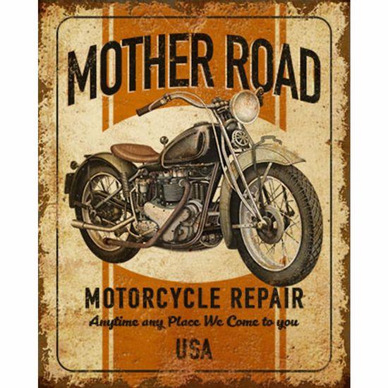 Placa-Decorativa-Litoarte-DHPM-212-24x19cm-Mother-Road-Motorcycle
