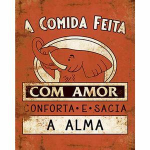 Placa-Decorativa-Litoarte-DHPM-220-24x19cm-Rotulo-Extrato-com-Amor