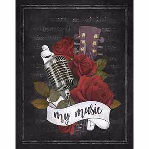 Placa-Decorativa-Litoarte-DHPM-223-24x19cm-Microfone-My-Music